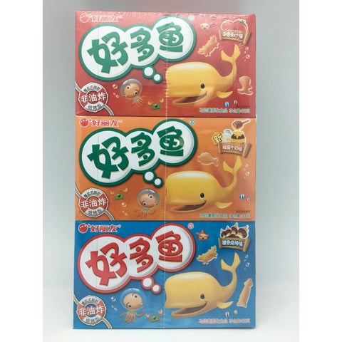 C019 HaoLiYou brand - Rice Crackers (Pack of 3 Honey, BBQ and Tomato Flavour)33g x 3pcs  - 20 box/1ctn - New Eastland Pty Ltd - Asian food wholesalers
