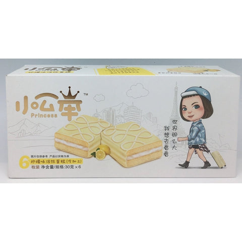 C021BL Princess Brand - Soft Cakes Lemon Flavour 30g x 6 - 16 box /1ctn - New Eastland Pty Ltd - Asian food wholesalers