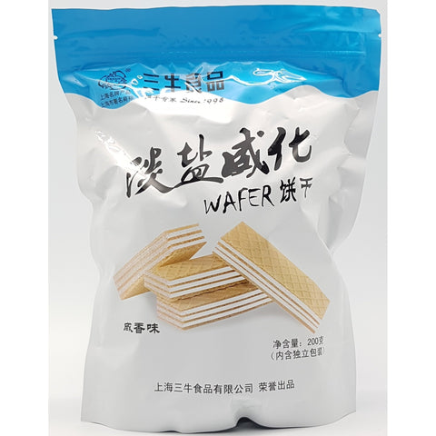 C026DS San Niu Shi Pin Brand -Wafer Biscuits Less Salt Flavor 200g - 12 Packages /1ctn - New Eastland Pty Ltd - Asian food wholesalers