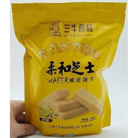 C026DZ San Niu Shi Pin Brand -Wafer Biscuits Cheese Flavor 200g - 12 Packages /1ctn - New Eastland Pty Ltd - Asian food wholesalers