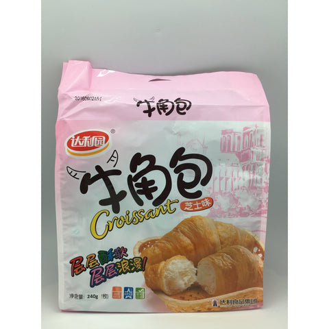 C026IA Da Li Brand - Croissant Pastry Cheese Flavour 240g- 6 bags / 1ctn - New Eastland Pty Ltd - Asian food wholesalers