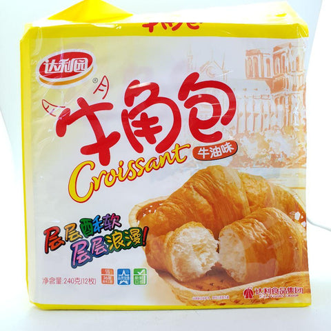C026IB Da Li Brand - Croissant Pastry Butter Flavour 240g - 6 bags / 1ctn - New Eastland Pty Ltd - Asian food wholesalers