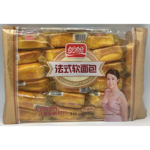 C026PM Pan Pan Brand - Soft French Bread Milk Flavour 400g - 10 bags / 1ctn - New Eastland Pty Ltd - Asian food wholesalers