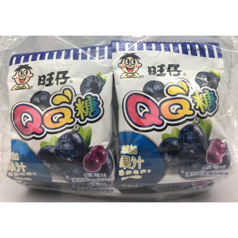 C052B WAN WAN Brand - QQ lollies (BLUEBERRY)-125g - 24 bags / 1CTN - New Eastland Pty Ltd - Asian food wholesalers