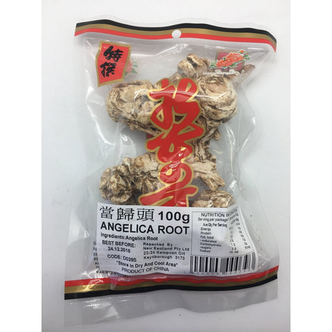 D039S New Eastland Pty Ltd - Angelica Root 100g - 50 bags / 1 CTN - New Eastland Pty Ltd - Asian food wholesalers