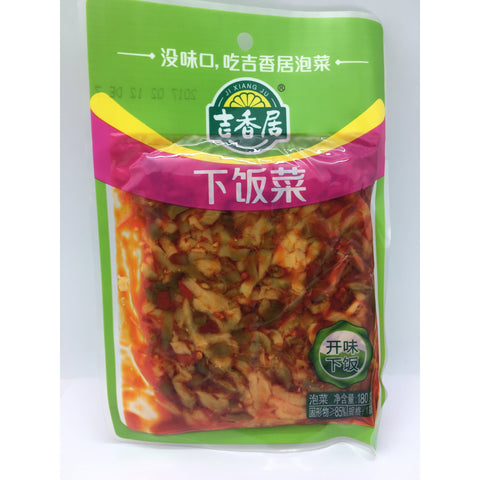 D124A Ji Xiang Ju Brand - Preserved Vegetable 180g - 30 bags / 1 CTN - New Eastland Pty Ltd - Asian food wholesalers