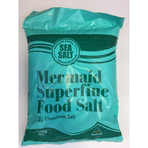 D235 Mermaid - Superfine Food Salt 10kg - 1 bags - New Eastland Pty Ltd - Asian food wholesalers