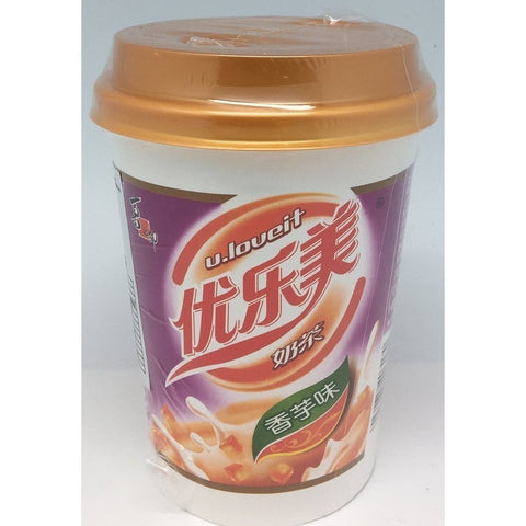 I003T U.Loueit Brand - Instant Milk Tea Drink Taro Flavour 80g - 30 cup / 1 CTN - New Eastland Pty Ltd - Asian food wholesalers