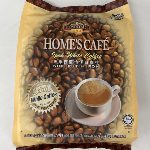 I006 Home's Cafe Brand - Malaysia Ipoh White Coffee 3in1 15x40g - 24 bags / 1 CTN - New Eastland Pty Ltd - Asian food wholesalers