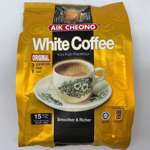 I007A Aik Cheong Brand - White Coffee Instant 15x40g - 20 bags / 1 CTN - New Eastland Pty Ltd - Asian food wholesalers