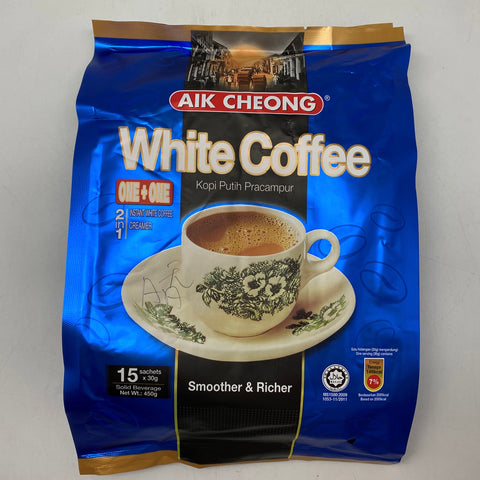 I007AA Aik Cheong - Low Sugar White Coffee Instant 30gX15 - 20bag/ctn