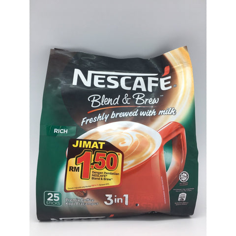 I007H Nescafe Brand - Instant Coffee Rich 25x20g -24 bags / 1 CTN - New Eastland Pty Ltd - Asian food wholesalers