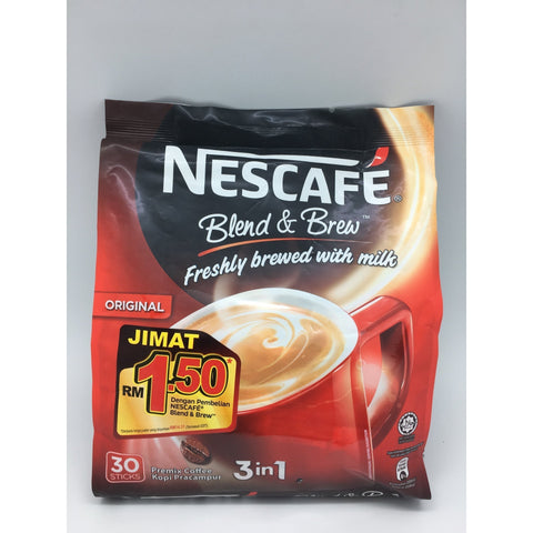 I007R Nescafe Brand - Instant Coffee Original 30x20g - 24 bags / 1 CTN - New Eastland Pty Ltd - Asian food wholesalers