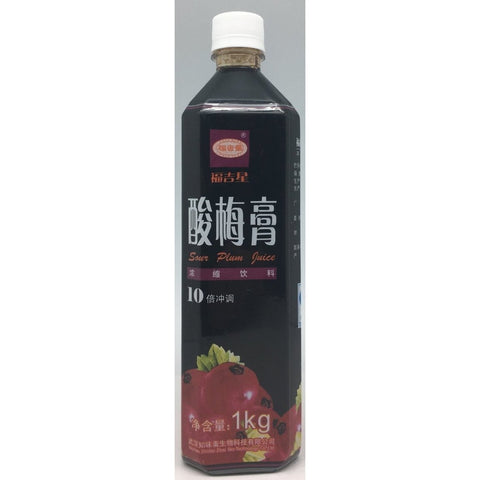 I016F Fu Ji Xing Brand - Sour plum Juice Drink 1kg - 12 bot / 1 CTN - New Eastland Pty Ltd - Asian food wholesalers