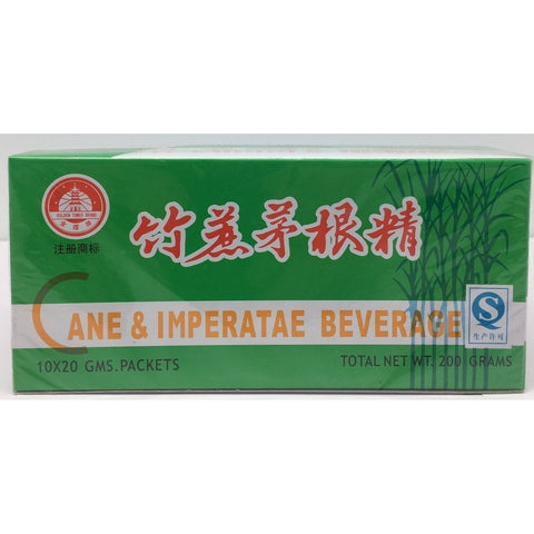 I019S Golden Tower Brand - Sugar Cane and Imperatae Beverage 10x20g -120 box / 1 CTN - New Eastland Pty Ltd - Asian food wholesalers
