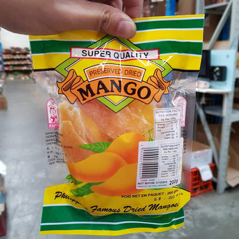 J000M Happy Brand Preserved Dried Mango 200g - New Eastland Pty Ltd - Asian food wholesalers