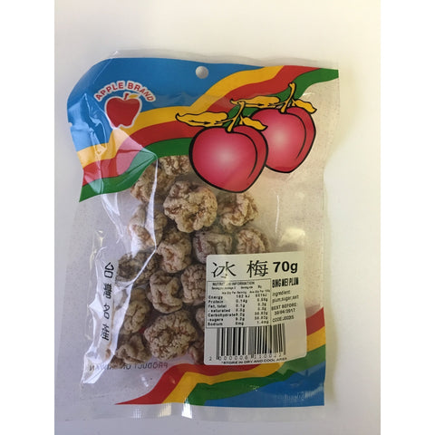 J002IS Apple brand -Bing Mei Plum 70g - 10 packet / 1 Bag - New Eastland Pty Ltd - Asian food wholesalers