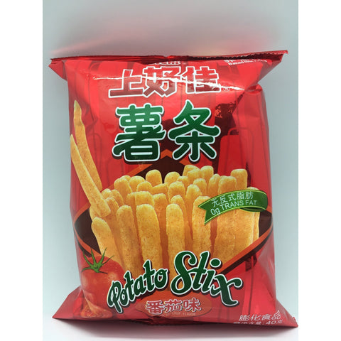 J066ZT Shang Hao Jia Brand- Potato Sticks (Ketchup Flavour) 40g - 20 bags / 1 CTN - New Eastland Pty Ltd - Asian food wholesalers