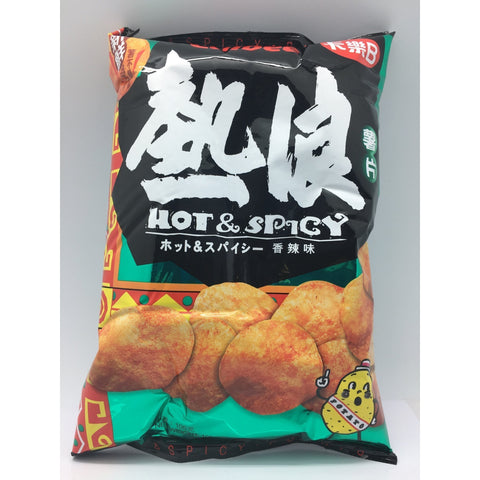 J072HL Calbee - Potato Chips (Hot and spicy Flavour) 105g - 16 bags / 1 CTN - New Eastland Pty Ltd - Asian food wholesalers