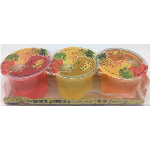 J075S Jolly Jolly brand- Jelly 130g x 3cup - 24 Tray / 1CTN - New Eastland Pty Ltd - Asian food wholesalers