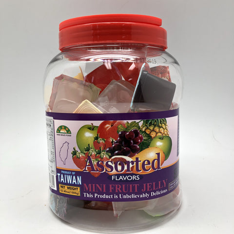 J081T Han Shuo Food brand- Assorted Mini Fruit Jelly 1500g 6 bot/ 1CTN - New Eastland Pty Ltd - Asian food wholesalers