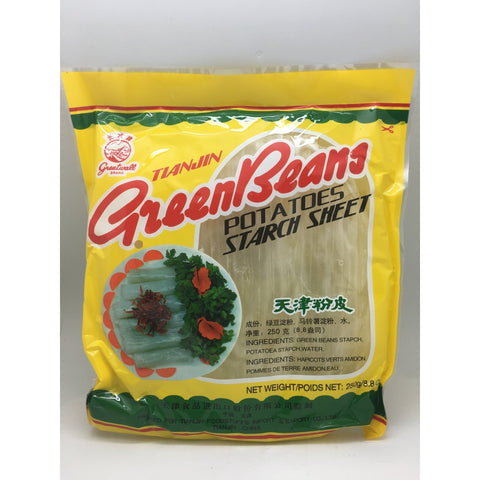 N034T Greatwall Brand - Green Beans Potatoes Starch Sheet 250g - 40 bags / 1CTN - New Eastland Pty Ltd - Asian food wholesalers