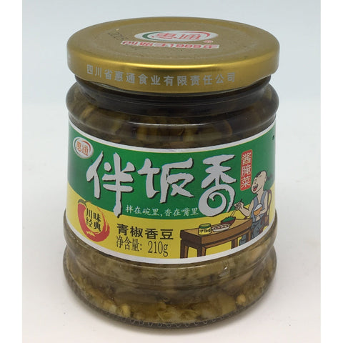 P001WP Hui Tong brand - Pickled Chilli and Bean 210g - 12 jar / 1 CTN - New Eastland Pty Ltd - Asian food wholesalers