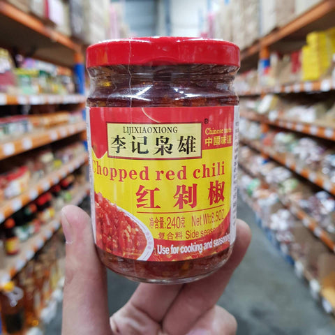 P003ZR Li Ji Xiao Xiong Brand - Chopped Red Chilli 240g - 20 Jar/CTN - New Eastland Pty Ltd - Asian food wholesalers