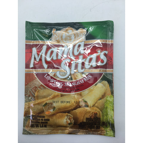 PD004L Mama Sitas Brand -Lumpiang Shanghai Mix 40g -  72 bags / 1CTN - New Eastland Pty Ltd - Asian food wholesalers