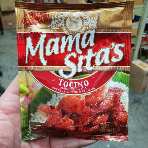 PD004M Mama Sitas Brand - (Tocino) marinating mix 75g -  72 bags / 1CTN - New Eastland Pty Ltd - Asian food wholesalers