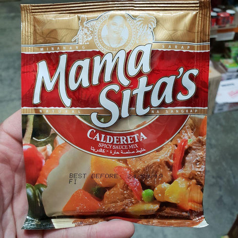PD004S Mama Sitas Brand - (Caldereta) Spicy Sauce 50g -  72 bags / 1CTN - New Eastland Pty Ltd - Asian food wholesalers
