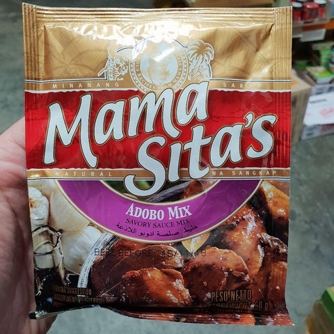 PD004SS Mama Sitas Brand - (Adobo) Savory Sauce mix 50g -  72 bags / 1CTN - New Eastland Pty Ltd - Asian food wholesalers
