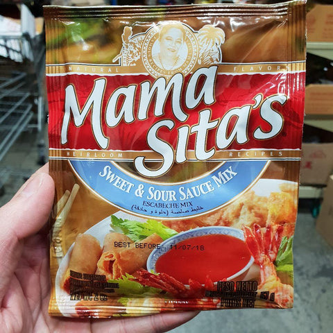 PD004SW Mama Sitas Brand - Sweet and sour Sauce mix 57g -  72 bags / 1CTN - New Eastland Pty Ltd - Asian food wholesalers
