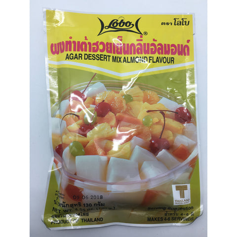 PD008D Lobo Brand -Agar Dessert Mix Almond Flavour 130g -  120 bags / 1CTN - New Eastland Pty Ltd - Asian food wholesalers