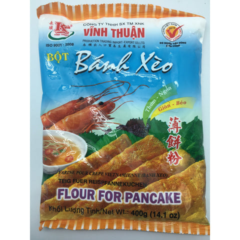 PD011M Vinh Thuan Brand -Flour for pancake 400g - 30 bags / 1CTN - New Eastland Pty Ltd - Asian food wholesalers