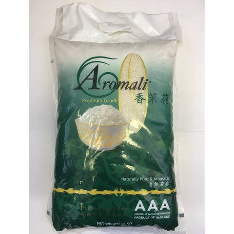 R001S Aromali Brand- Premium grade AAA Thai Jasmine Rice 5kg - 5 bags / 1 CTN - New Eastland Pty Ltd - Asian food wholesalers
