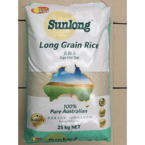 R004 Sun Rice- Long Grain Rice 25kg - 1 bag - New Eastland Pty Ltd - Asian food wholesalers