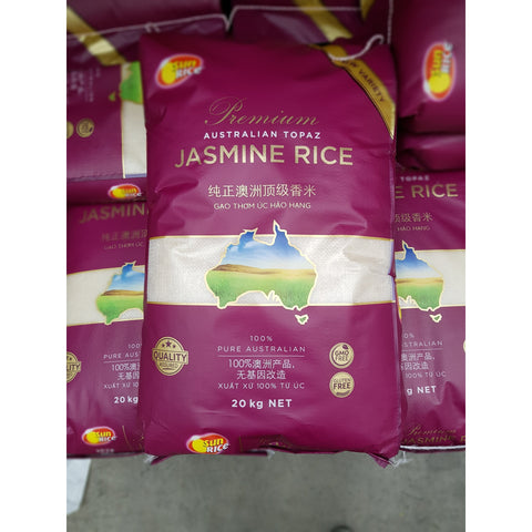 R004J Sun Rice- Australian Topaz Jasmine Rice 25kg - 1 bag - New Eastland Pty Ltd - Asian food wholesalers
