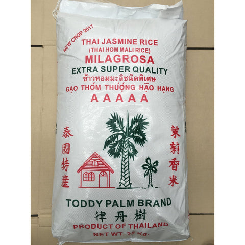 R005 Toddy Palm Brand- Thai Jasmine Rice 25kg - 1 bag - New Eastland Pty Ltd - Asian food wholesalers