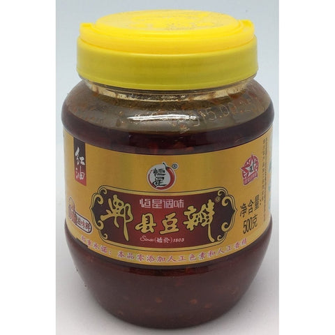 S023S Hang Seng Brand - Chilli Bean Sauce 500g -  12 jar / 1CTN - New Eastland Pty Ltd - Asian food wholesalers