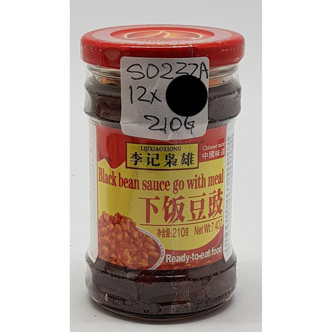 S023ZA Li Ji Xiao Xiong Brand - Black Bean Sauce 210g - 12 jar/CTN - New Eastland Pty Ltd - Asian food wholesalers