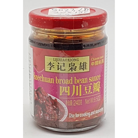 S023ZB Li Ji Xiao Xiong Brand - SzeChuan Broad Bean Sauce 240g -  20- jar / 1CTN - New Eastland Pty Ltd - Asian food wholesalers
