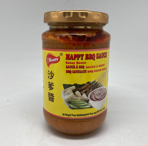 S040 Happy Brand - Satay BBQ Sauce 340g -  24 jar / 1CTN - New Eastland Pty Ltd - Asian food wholesalers