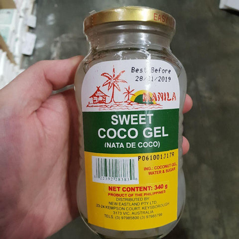 S050G Manila Brand - Coco Gel 340g -  24 jar / 1CTN - New Eastland Pty Ltd - Asian food wholesalers