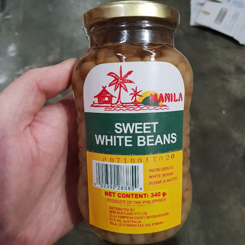 S055 Manila Brand - Sweet White Beans 340g -  24 jar / 1CTN - New Eastland Pty Ltd - Asian food wholesalers