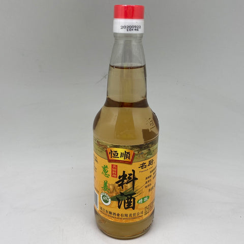 S096XG HengShun Cooking Wine With Ginger 480ml - 12bot/ctn