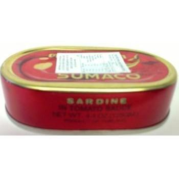 T027 Sumaco Brand -Sardines in Tomato Sauce 125g - 100 tin / 1 CTN - New Eastland Pty Ltd - Asian food wholesalers