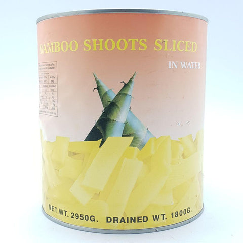 T035S (L) Bamboo Shoots Sliced In Water 3Kg - 6 tin/CTN - New Eastland Pty Ltd - Asian food wholesalers