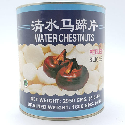 T057L (L) Water Chestnut 3KG - 6 tin/CTN - New Eastland Pty Ltd - Asian food wholesalers