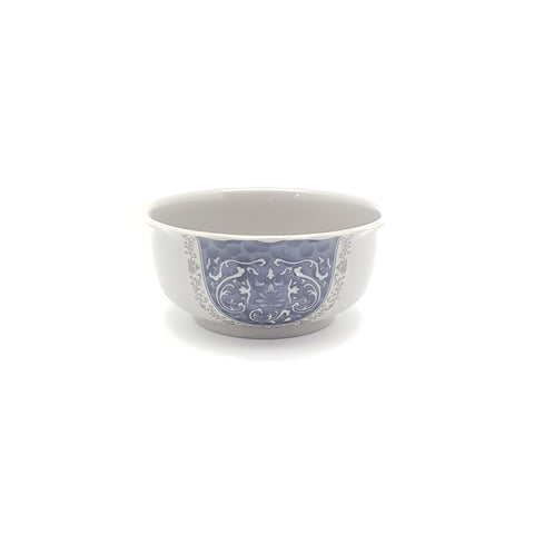 TB363 - Grey & Blue Plastic Medium Round Bowl ~ 6 Inches - TBD Pieces  / 1 Box - New Eastland Pty Ltd - Asian food wholesalers